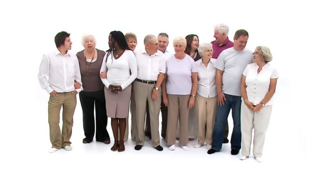 Group of people including seniors video