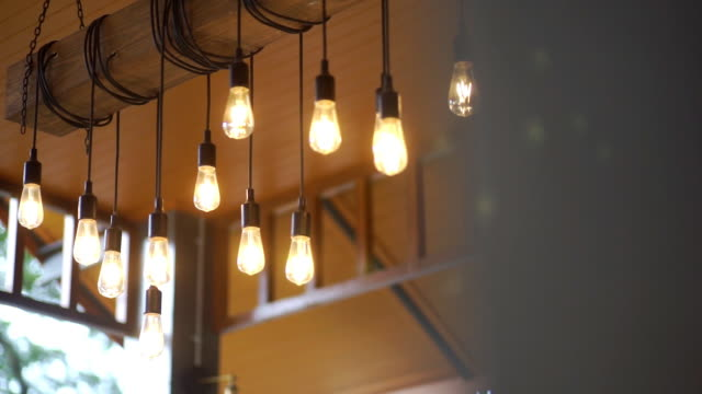 A group of retro lighting decor in the room