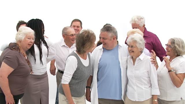 Group of senior people video