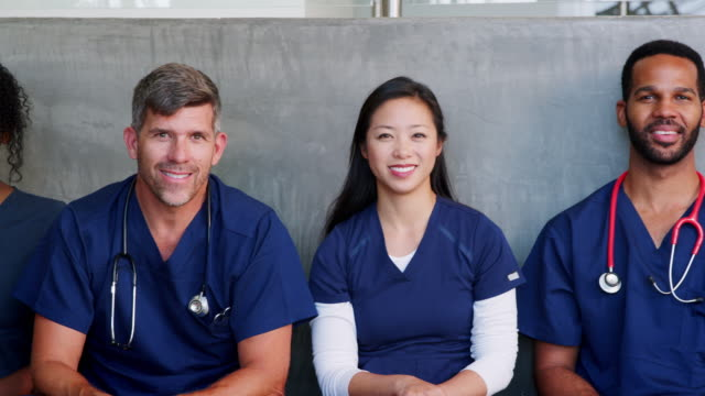 Group of smiling healthcare professionals, male and female video