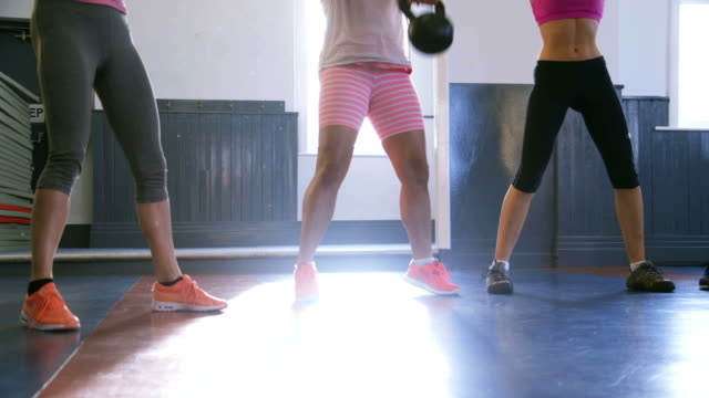 Group of Women Training with Kettle Bells video