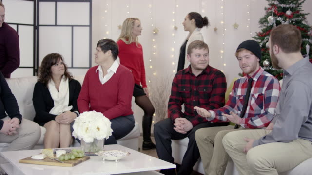 4K UHD: Group of Young Adults at a LGBTQ Holiday Party video