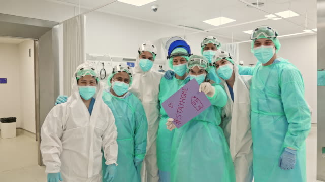 Group Portrait of Hospital Workers During COVID-19 Pandemic