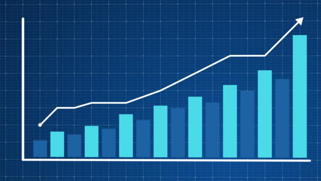 Growing chart with arrow animation Growing chart with arrow animation growth icon stock videos & royalty-free footage