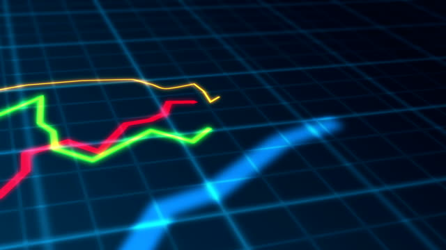 Growing Charts Moving Seamless Loop Animation 02 video