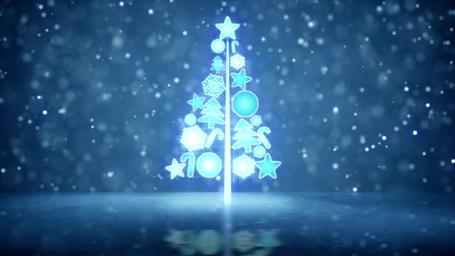 growing christmas tree holiday symbol loopable video