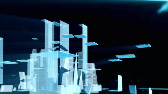 vídeos de stock e filmes b-roll de growing city - génio conceito
