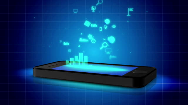 Growing efficiency from use of online booking, banking, shopping applications video