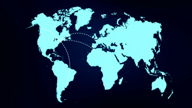 A growing network across the world A world map and connection line all over  the world time zone stock videos & royalty-free footage