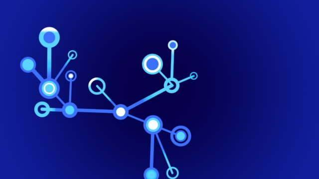 Growing Network of lines and circles, loops from 14:00 onwards video