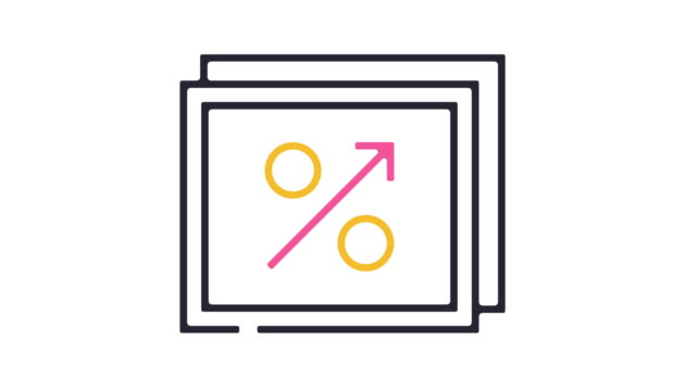 Growth Icon Animation Thin line animation of business growth icon on white background. growth icon stock videos & royalty-free footage
