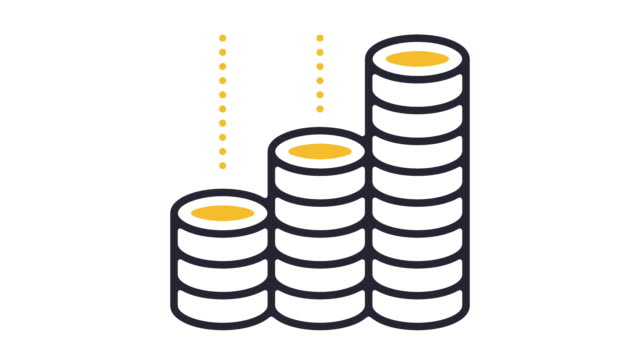 Growth Icon Animation Thin line animation of economic growth icon on white background. growth icon stock videos & royalty-free footage