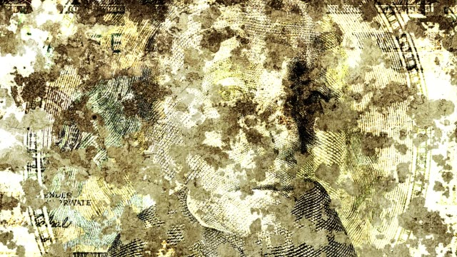 grunge background with portrait from dollars video