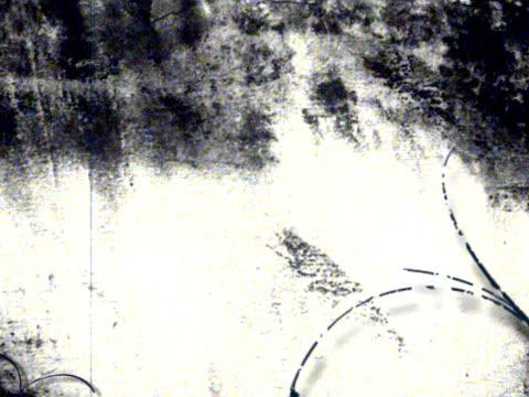 Grunge-B & W Hintergrund mit Blume-Digitale animation – Video