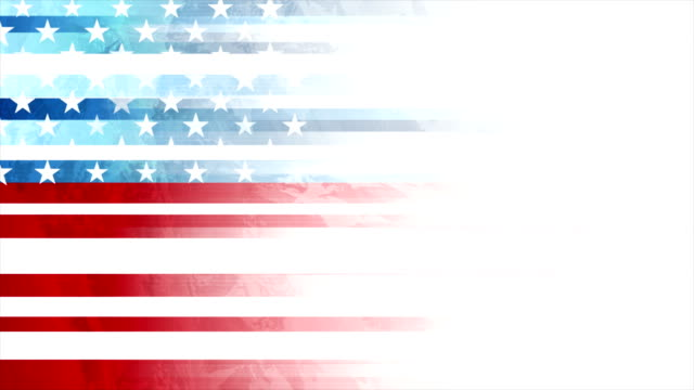 grunge concept usa flag abstract motion animated background - 4 luglio video stock e b–roll