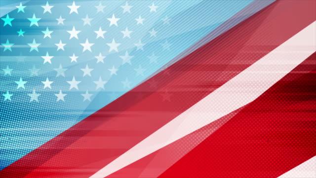 vídeos y material grabado en eventos de stock de grunge concept usa bandera abstracta fondo de movimiento - american flag