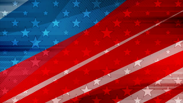 vídeos y material grabado en eventos de stock de grunge concept usa bandera animación de vídeo abstracto - american flag