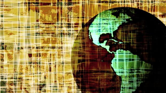 Grunge Earth Background Loop video