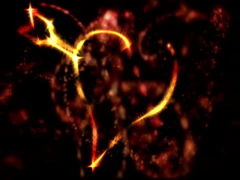그런지 glamor loveheart - 클립 길이 스톡 비디오 및 b-롤 화면