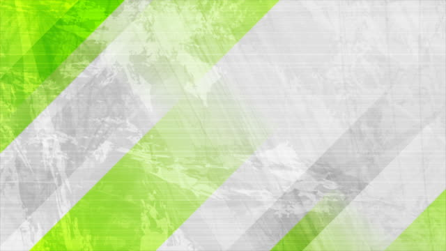 Grunge grey wall video animation with green stripes
