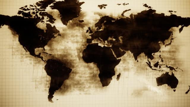 3D Grunge Map HD video