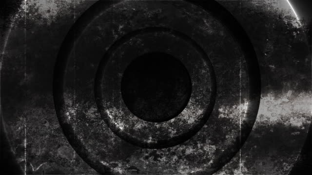Grunge metal circles abstraction with lighting, 3d render computer generated background