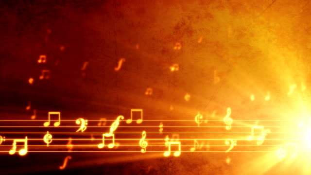 Grunge Music Background Orange video