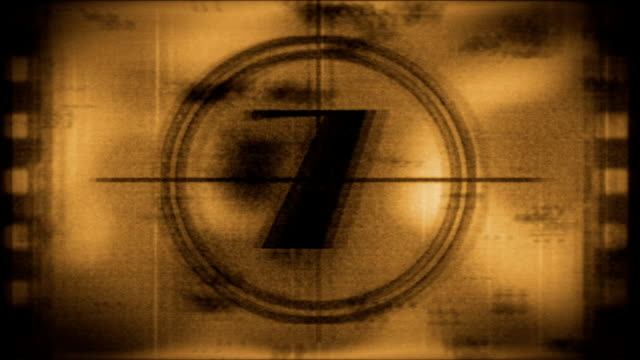 Grunge sepia toned countdown from 10 video