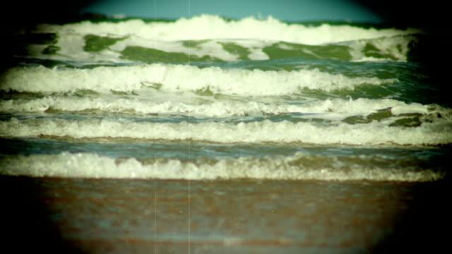 Grunge Vintage Look of the Ocean Waves LOOP