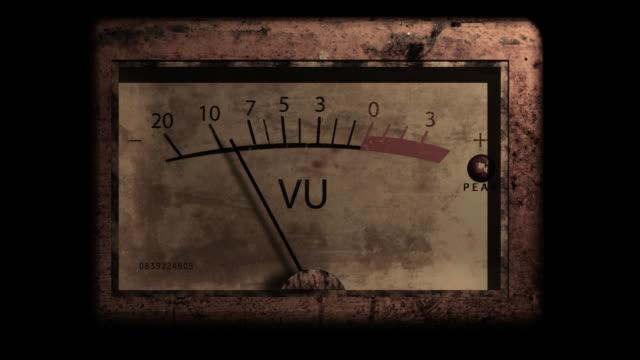 Grunge VU Meter with alpha video