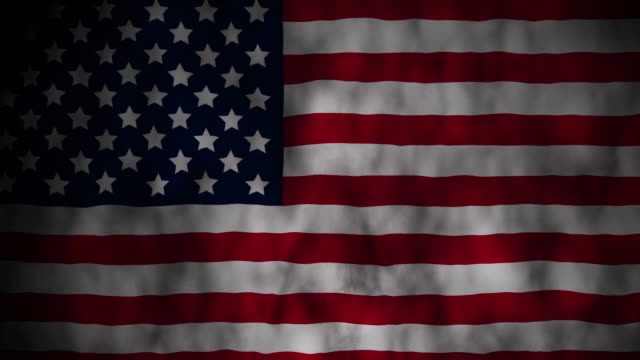 Grunge waving flag of United State Of America video