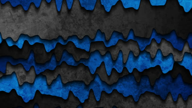 Grunge wavy corporate blue and black abstract video animation