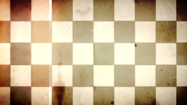 Grungy Old Film Racing Checkered Flag Loop - with Audio video