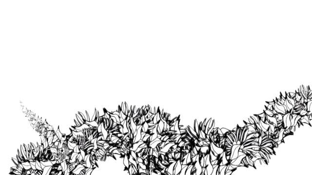 grunge vite hd di animazione - vite flora video stock e b–roll