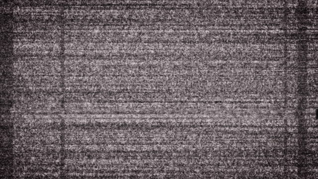 Grungy White Noise on TV video