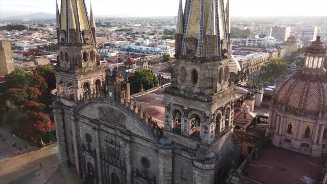 guadalajara - katedral stok videoları ve detay görüntü çekimi