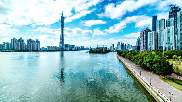 Guangzhou city time lapse video