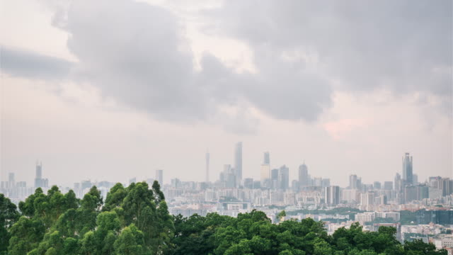 T/L Guangzhou skyline in the morning video