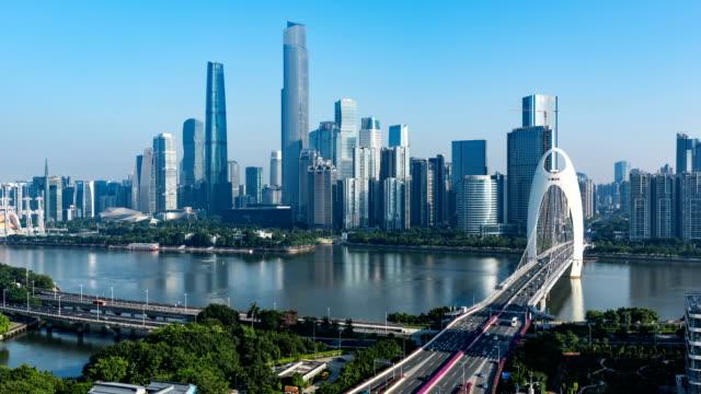 vídeos y material grabado en eventos de stock de horizonte de guangzhou. timelapse / 4k - prosperidad