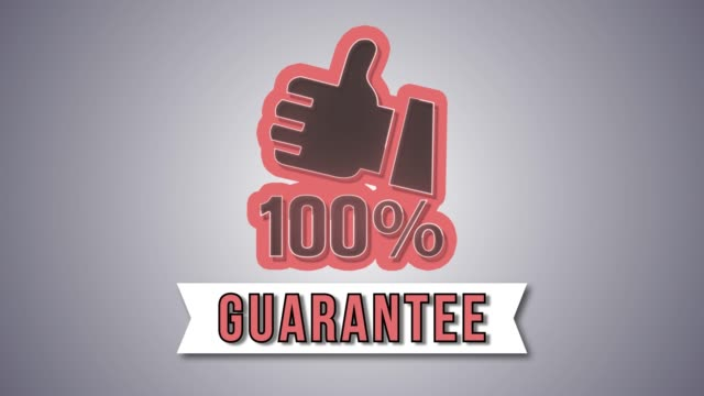Guarantee label 4K Full HD animation video