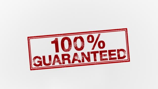 100% garantie - reliability stock-videos und b-roll-filmmaterial