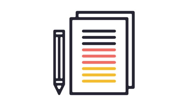 Guidance Notes Line Icon Animation with Alpha
