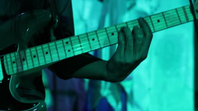 guitar in musician hands video