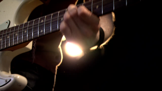 Guitar player on stage. video