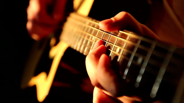 Guitar Player Musician playing acoustic guitar guitar stock videos & royalty-free footage