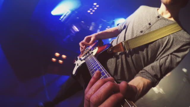 pov of guitar - chitarra video stock e b–roll