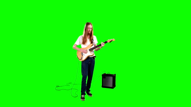 gitarrist spelar elgitarr - gitarrist bildbanksvideor och videomaterial från bakom kulisserna