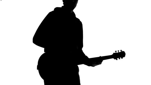 guitarist silhouette - gitarrist bildbanksvideor och videomaterial från bakom kulisserna