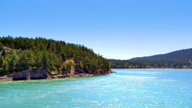 BC Gulf Islands, Vancouver British Columbia, Ocean and Islands View video