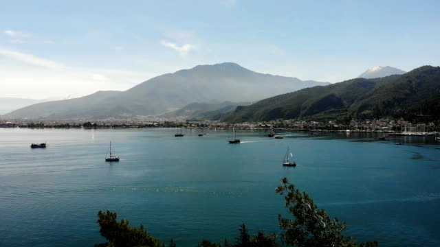 gulf of fethiye. - fethiye video stock e b–roll